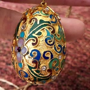Jewelry - Never worn Hand painted/Designed Egg Necklace
